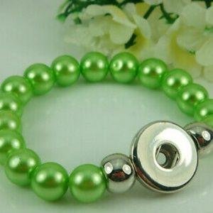 Beaded Interchangeable Snap Button Bracelet